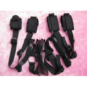 Fesselset Nylongewebe 4teilig Hände & Füße mit Befestigungsbänder - FNS1