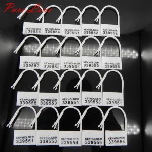 Einwegschlösser weiß Set 20 Stück verschiedene Nummern - ESW1