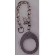 CLEJUSO - Halbe Handschelle Nr.12A 30 cm Kette rostfreier Stahl - LAGERWARE