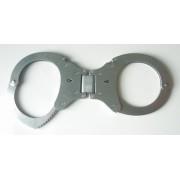 CLEJUSO - Handschellen Nr. 19R-3 Scharnier Schlüsselloch einseitig symmetrisch rostfreier Stahl