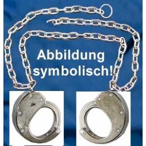 CLEJUSO - Bauchfessel Bauchkette BF/13 Handschellen Nr.13 seitlich vernickelt
