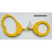 CLEJUSO - Handschellen Nr.12A Kette, Gelb, rostfreier Stahl Teflon - LAGERWARE