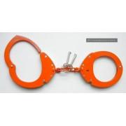 CLEJUSO - Handschellen Nr.12A Kette, Orange, rostfreier Stahl Teflon