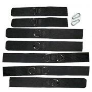 Set 9teilig Cordura Fesseln mit Klettverschluß Patientenfixierung Handfesseln Fußfesseln